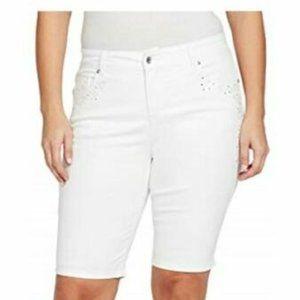 NEW Gloria Vanderbilt 24W White Jessa Curvy Shorts